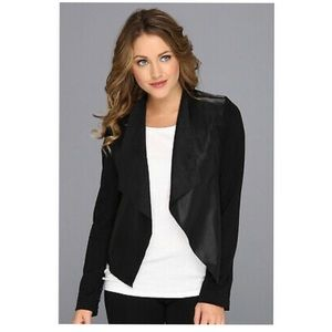 Kut From The Kloth Faux Leather and Suede Jacket L